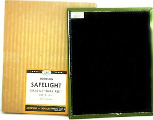 """37.  Johnson Darkroom Safelight Filter - 8""""x10"""" -  Series 6/2 Dark Red"""