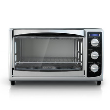 BLACK+DECKER TO1675B 6-Slice Convection Countertop Toaster Oven, Includes Bake