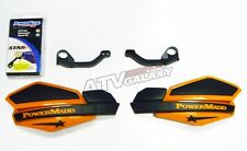 POWER MADD HANDGUARDS YAMAHA WARRIOR HAND GUARDS ORANGE BLACK HAND GUARD MOUNTS