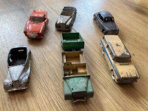 Six Dinky Toy Cars - Land Rover Volvo Rover 75 Bentley Nash Rambler Triumph