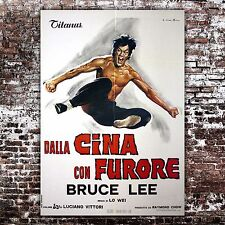 Manifesto Originale Cina Con Furore - The Chinese Connection, Bruce Lee 100x140