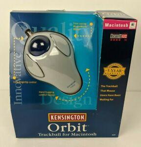 Vtg Kensington Orbit Trackball Mouse for Macintosh w. Box etc 64220