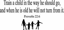 Train up a Child In the Way He Should Go Wall Sticker Decal Wall Art Decor 60x30