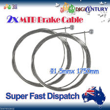 2x MTB Brake Cable Inner Crimp Bicycle Cycling BMX Mountain Bike for Shimano