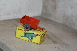 dinky toys land rover trailer 341 (rouge) en boite.  England