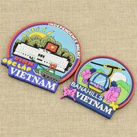 1 Pc Vietnam Fridge Magnet Flag Print Refrigerator Magnetic Home Kitchen Deco