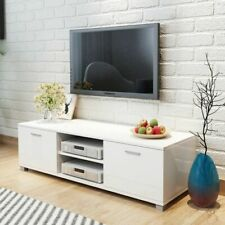 vidaXL TV Hifi Cabinet Sideboard Unit Stand High-Gloss White 140x40.3x34.7 cm