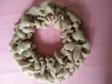 "BURLAP WREATH -  Handmade Ready-to-Decorate - 16"" total diameter"