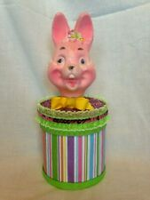 EASTER VINTAGE BLOW MOLD BUNNY BOX