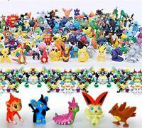 Pikachu Pokemon Go 144 PCS Monster Action Figures Lot Cake Toppers Mini Toys Set