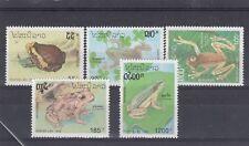 a122 - LAOS - SG1334-1338 MNH 1993 AMPHIBIANS