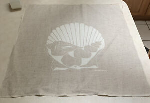 Vintage Marushka Silk Screen Fiber Textile Wall Art SHELL 70s Home Decor 20x20