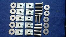 10x Jaguar X Type Belly Pan Undertray Bolt Full Set M6 Speed Fastener Washer
