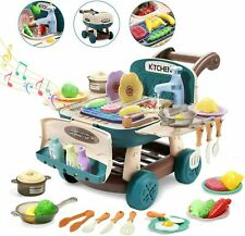 Kitchen Play Set Pretend Playset BBQ Toy Cooking Sink For Kids Gift Toddler Girl