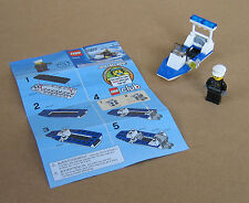 30002 LEGO Police Boat Polybag – 100% Complete w Instructions EX COND 2009
