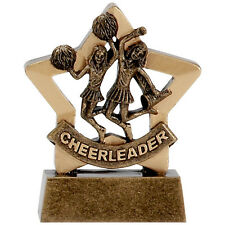Cheerleader Trophy mini star. *Free Engraving* schools, parties, clubs events