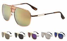 Wholesale 12 Pair Fashion Aviator Sunglasses Flat Top Metal Eyewear - Assorted