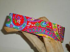 Red Floral Paisley 2 Inch Custom Made Martingale Dog Collar