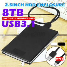 Portable USB 3.1 External Hard Drive Disk 2.5 '' 8TB Storage Devices HDD Case