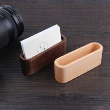 Desktop Name Card Organizer Wooden Box Business Card Holder Wood Credit CarN1J4