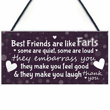 Funny Gift For Best Friend Birthday Christmas Sign Friendship Keepsake THANK YOU