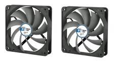 2 x confezione di Arctic Cooling F12 PWM PST Co 120 mm Case Fan 1350 RPM