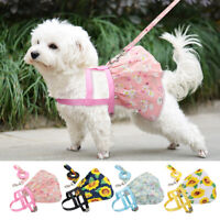 Floral Dogs Dress Small Pet Cat Skirt Vest Harness Clothes Puppy Summer Costume