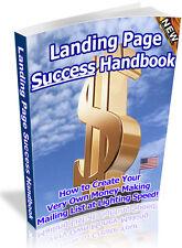 LANDING PAGE SUCCESS HANDBOOK PDF EBOOK FREE SHIPPING RESALE RIGHTS