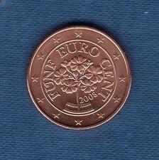 Autriche 2008 - 1 centime d'Euro - Pièce neuve de rouleau -
