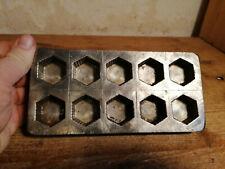 alte schöne Schokoladenform chocolate mold Eiskonfekt Pralinenform