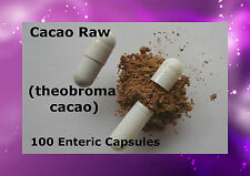 Cacao Raw (theobroma cacao) 100 Enteric Caps Capsules delayed release Pure Peru