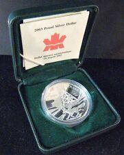 2003 Canada Silver Proof Dollar Cobalt Silver Strike Coin** FREE U.S. SHIPPING**