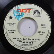 Pop Promo 45 Tom West - What A Day To Be Blue / Rainy Day On Dot Records