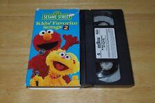 Sesame Street - Kids' Favorite Songs 2 (VHS, 2001) - Elmo, Zoe - Used/GC