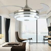 """42"""" Invisible Bluetooth LED 3-Color Ceiling Fan Light Chandelier w/ Music Player"""