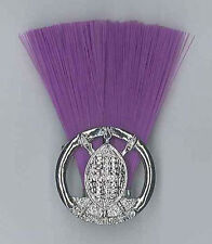 SCOUTS OF SWAZILAND - SCOUT COMMISSIONER (PURPLE COLOUR) Metal Plume / Hat Patch