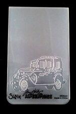 Sizzix Medium Embossing Folder OLD JALOPY VINTAGE CAR fits Cuttlebug Tim Holtz