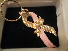 AVON BREAST CANCER PINK RIBBON KEY RING **NEW IN BOX** 1994