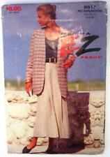 NEW 1993 EZ by VOGUE #8617 Sewing Pattern Misses Jacket & Skirt Size6-8-10 UNCUT