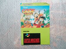 Notice Super nintendo / Snes Goof Troop PAL Booklet * Bien Lire