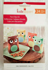 24 Kate Aspen Cute Owl Party Favor Boxes Kit Baby Shower Birthday Fun Gift Boxes