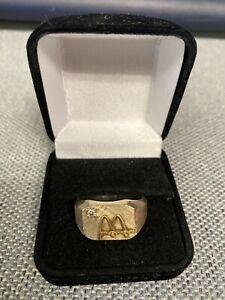 McDonalds Employee 14k White Gold Diamond Ring Sz 13.5 (Solid Gold) 18.5 Grams