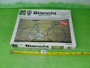 vintage protar 1/9 bianchi camp italiano 1980 bicycle model kit sealed 2186