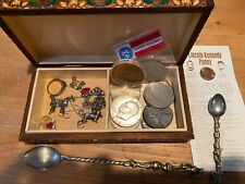 junk drawer; coins, silver jewlery 925/sterling & other items