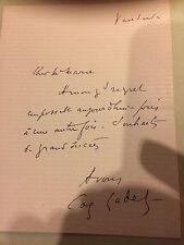 Coquelin Cadet acteur lettre autographe signée manuscript letter autograph