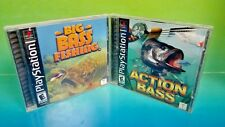 Action Bass & Big Bass Fishing Playstation 1 2 PS1 PS2 Rare Games Mint Discs !