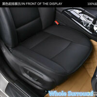 1x Universal Black PU Leather Luxury Car Seat Cover Protector Front Seat Cushion