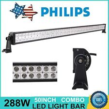 "50"" inch 288W Philips LED Work Light Bar 4WD Off-road Driving Combo Lamp 12V 24V"