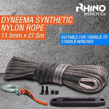 Corda SINTETICA Dyneema - 11.5mm 4x4 cavo di recupero Rhino verricello, Gancio, passacavo
