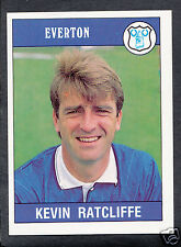 Panini Football 1990 Sticker - No 114 - Kevin Ratcliffe - Everton